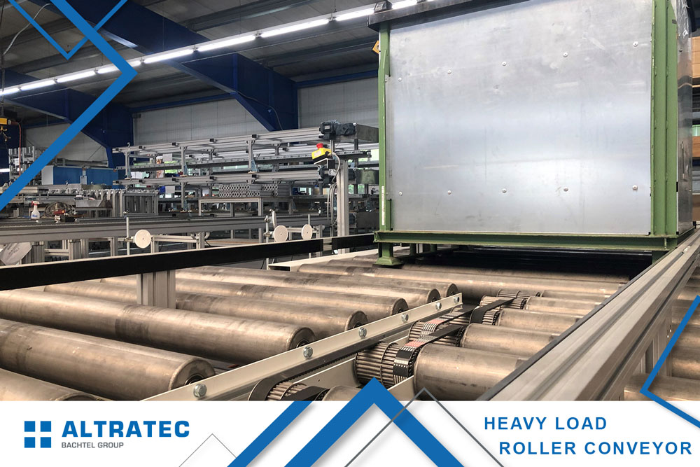 Heavy load roller conveyor
